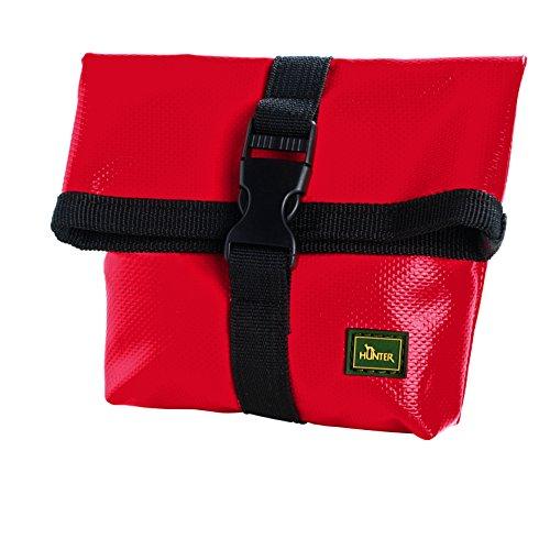 HUNTER Special Detroit Gürteltasche, Futterbeutel, Leckerlitasche, für Training und Ausbildung, 11,5 x 4,5 x 20,5 cm, rot