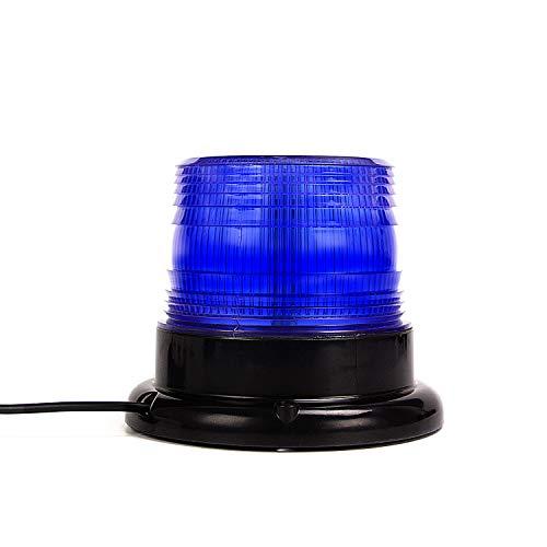 LED Rundumkennleuchte Blau Rundumleuchte für Auto Anhänger Wohnwagen SUV - Magnetfuß - 12V/80V