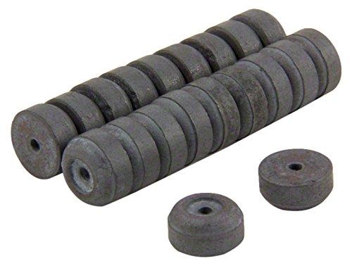 first4magnets™ FR120206-20 12mm O.D. x 2mm D.I. x 6mm épais aimants de Ferrite Y10-0,137 kg Pull (Paquet de 20), Métal, Argent, 15x10x3 cm