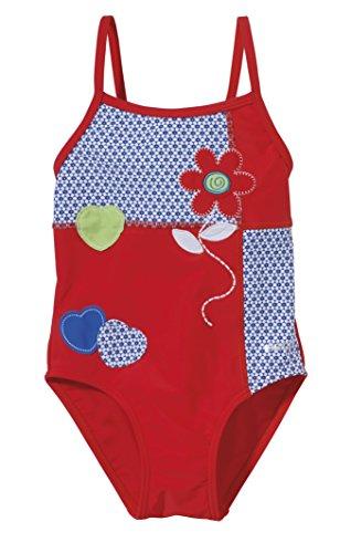 Beco Maillot de Bain pour Fille a-Bella Swim Rock-Chic Multicolore Rouge/Bleu 3 Ans