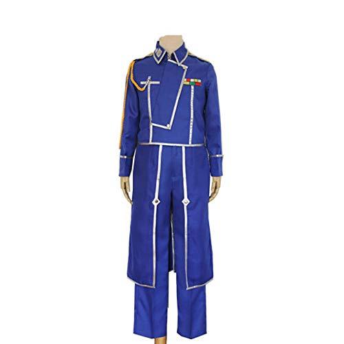 CHANGL Anime Fullmetal Alchemist Cosplay Roy Mustang Kostüme Militäruniform Anzug Mantel + Hose + Schürze