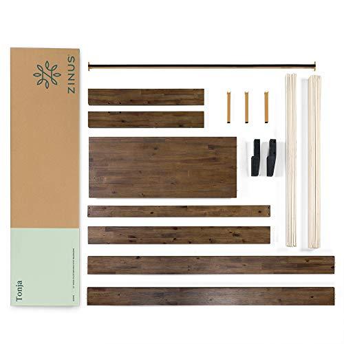 Zinus Tonja Platform Bed / Mattress Foundation / Box Spring Replacement / Brown, Queen