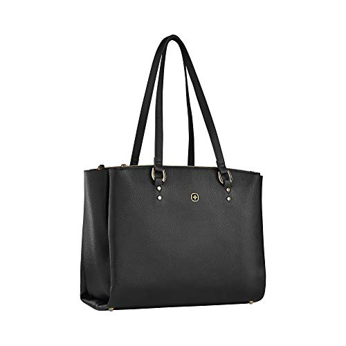 Wenger Rosalyn Laptoptasche - Handtasche mit 14'' Laptopfach Kunstleder Business Damen - Schwarz