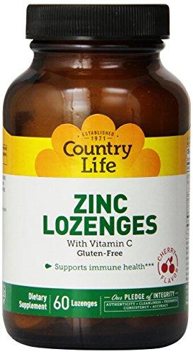 Country Life Zinc L-Ouncesenges Cherry, 60 l-Ouncesenges