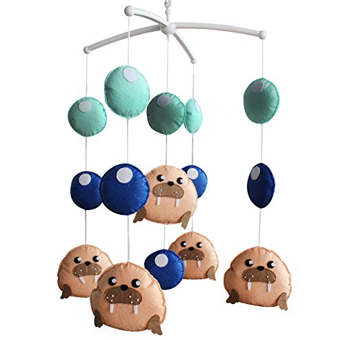 [Sea Lions] Mignon Jouets en Hanging, Rotatif Mobile, Décor de nurserie Chambre