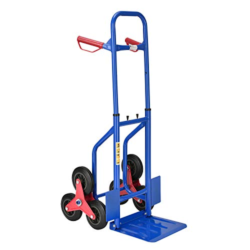 Juskys Treppensackkarre klappbar - Treppensteiger mit Hartgummireifen & Stahlrahmen – Sackkarre für Umzug & schwere Gegenstände Treppenkarren