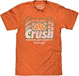 ARE YOU CRUSHING IT?: Enjoy the nostalgia of the classic Orange Crush logo in a cool gradient design, distressed and printed on the softest orange heather tee we could find. EASY CARE TEES: This 70s Orange Crush gradient logo is licensed and screen-p...