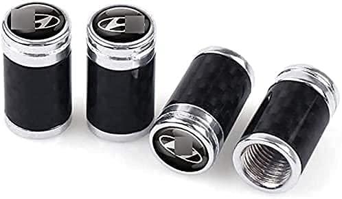 4 Piezas Tapas de Válvula de Neumáticos de Coche para Hyundai Elantra 2012 2017 Tucson Solaris Sonata Veloster i10 i20, Anti Polvo Resistente Agua Tapas para Válvulas Decoración Accesorio