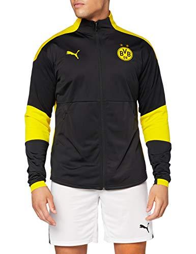 PUMA Herren BVB Training Jacket Trainingsjacke, Black-Cyber Yellow, M