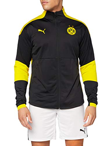 PUMA Herren BVB Training Jacket Trainingsjacke, Black-Cyber Yellow, M