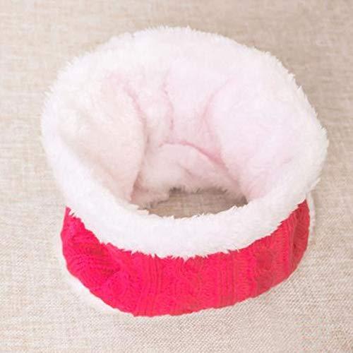Nuevo Sombrero de bebé Traje de Bufanda Otoño Invierno Tejido para niños Conjunto de Bufanda de algodón para niñas y niños Sombreros Cuello Bufanda para niños-Pink 3