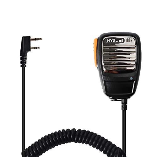HYS R02 2 Pin de dos vías Radio Altavoz remoto Altavoz de micrófono de mano para BaoFeng UV-5R BF-888S Walkie Talkie Transceptor
