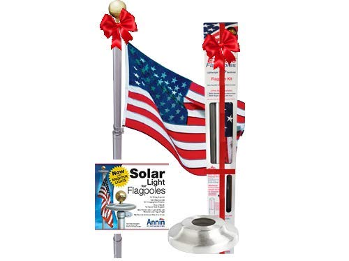 21 FT Tapered Telescoping Silver Flag pole Tangle...