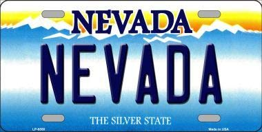 Nevada Nevada Background Novelty Metal License Plate (With Sticky Notes)