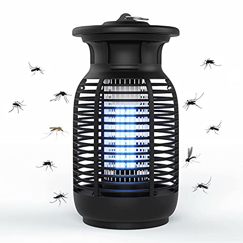 Bug Zapper, 4200V Electric Mosquito Killer for Indoor and Outdoor, Waterproof Insect Fly Pest Attractant Trap with 15W Mosquito Bulb for Home/Office/Backyard/Patio