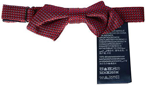 Tommy Hilfiger Dg Silk Micro Design Bowtie Corbata, Rojo (Red 0Kr), Talla única para Niños