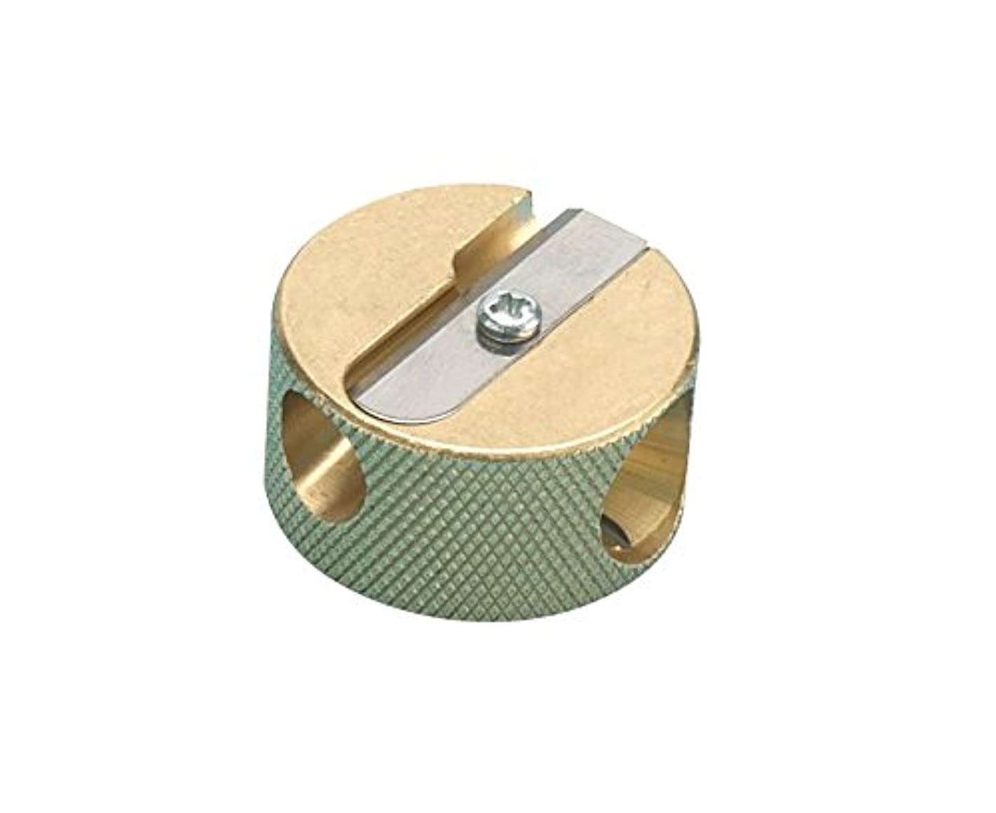 Alvin 9867 Solid Brass Double-Hole Round Pencil Sharpener