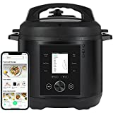 CHEF iQ Smart Cooker, World's Easiest to Use PressureCooker, Seamlessly Connects with App for Foolproof Recipes, Full-Color LCD Screen, Built-in Scale and Calculator, Auto Steam Release, 6 Qt