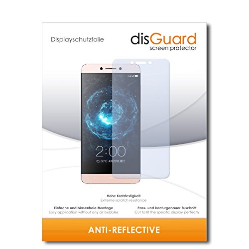 disGuard Bildschirmschutzfolie für LeEco Le 2 [2 Stück] Anti-Reflex, MATT, Entspiegelnd, Extrem Kratzfest, Anti-Fingerabdruck - Bildschirmschutz, Schutzfolie, Panzerfolie
