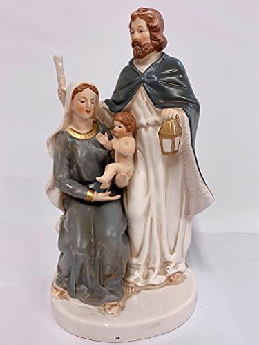 Mary Joseph y el niño Jesús porcelana religiosa adorno de Belén