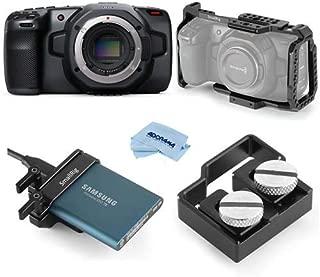 Blackmagic Design Pocket Cinema Camera 6K - Bundle with SmallRig HDMI and USB-C Cable Clamp, SmallRig Mount for Samsung T5 SSD, SmallRig Camera Cage f/Blackmagic Cinema Camera 4K/6K, Microfiber Cloth