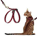 PUPTECK Cat Harness with Leash Set - Adjustable...