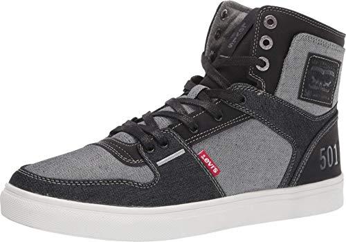 Levi's Mens Mason Hi 501 Fashion Denim Hightop Sneaker Shoe, Black/Charcoal, 9 M