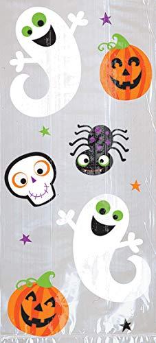 Amscan 370259 – Halloween Pumpkins & Ghosts Party Treat Bags – 20 Pack