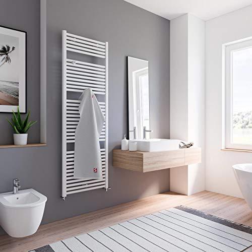 Schulte Badheizkörper Bavaria, Standardanschluss unten außen, 177 x 60 cm, alpin-weiß, Design-Heizkörper für Zweirohr-System