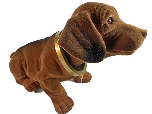 Wackelkopf / Wackeldackel Original 29 cm Hund Gartenzwerg Wackeltier Kopf PVC Deko GRS 100a