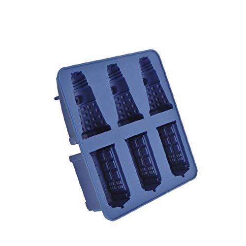 shentaotao Silikon-EIS-würfel-behälter Tardis & Daleks Moulds Praline-plätzchen-Form-Hersteller DIY Bar-Party-getränk Backen-Werkzeuge
