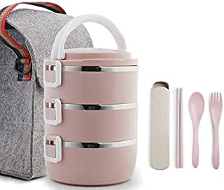 HHQSC Lunch Box Multi-Layer Portable Warm Lunch Box Stainless Steel Lunch Box Thermos Leak-Proof Food Container