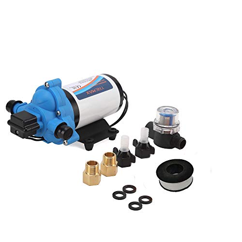 TreMax Industrial Diaphragm Power Pump 110 VAC, 4.0 GPM,45PSI, Water Pressure Pump, Heavy Duty Water Pump, W Power Plug for Wall Outlet