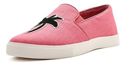 Katy Perry Women's The Kerry Sneaker, PALM TREE/PINK, 10
