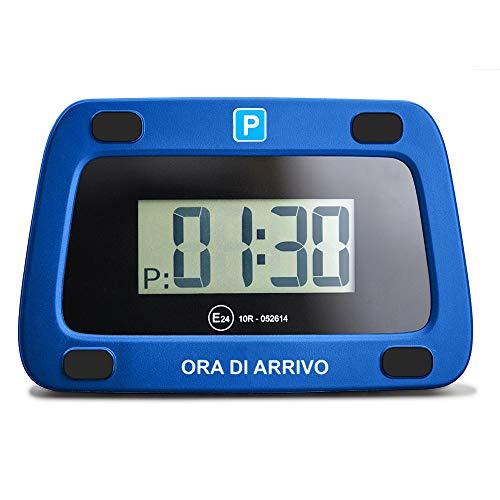 achilles Parking Guard Disco Digitale di parcheggio con 2 Dischi Adattatore corrisponde al parchimetro elettronico di parcheggio per Auto in Blu 111 x 72 x 25 mm