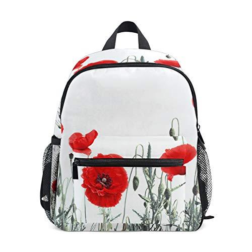 Mochila para niños y niñas Mini Mochila Bolsa de Viaje con Clip en el Pecho Pintura de Tinta Poppy
