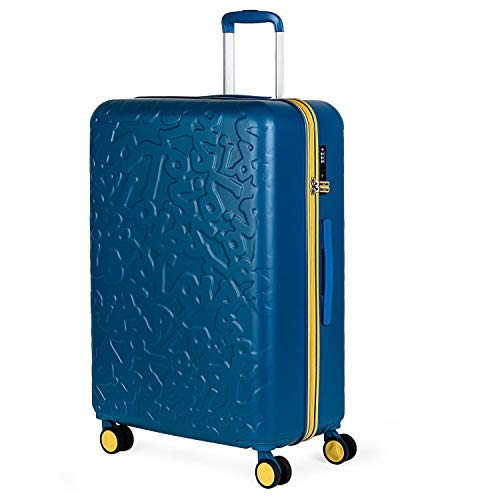 Lois - Maleta de Viaje Grande 4 Ruedas Trolley 75 cm Rígida de ABS. Dura Práctica Cómoda Ligera y Bonita Marca de Confianza y Estilo. Candado TSA. 171170, Color Azul