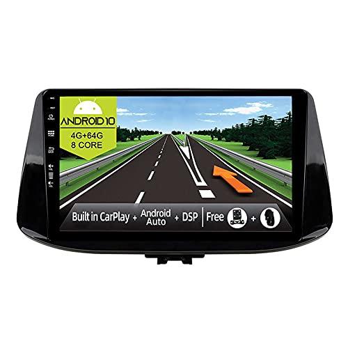 JOYX Android 10 Autoradio Compatibile Hyundai i30 (2017-2018) - [4G+64G] - [Built-in DSP/Carplay/Android Auto] - LED Camera GRATUITI - Supporto BT5.0 DAB Volante 4G WiFi 360-Camera - 9 Pollici 2 Din