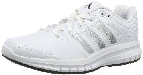 adidas Performance Duramo 6 Lea W, Unisex-Erwachsene Laufschuhe, Weiß (Running White Ftw / Metallic Silver / Black 1), 37 1/3
