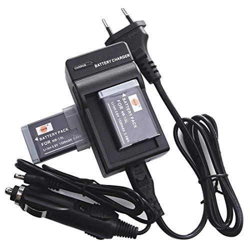 DSTE 2-Pieza Repuesto Batería y DC161E Viaje Cargador kit para Canon NB-13L PowerShot G7X Digital Cámara