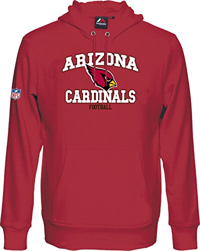 Majestic NFL Football Arizona Cardinals Hoody Kaputzenpullover Hooded Sweater Greatness (XL)
