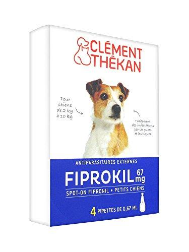 Clément Thékan Fiprokil 67 mg Petits Chiens 4 Pipettes