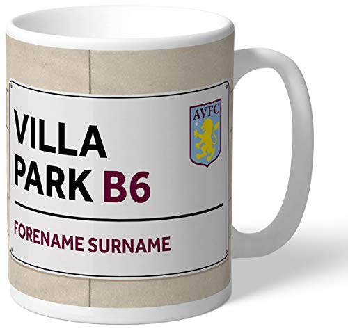 Villa Park Street Sign Personalised Mug