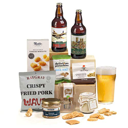Hay Hampers -Gentlemen's Ale, Pate and Nibbles Hamper Box Gift for Him