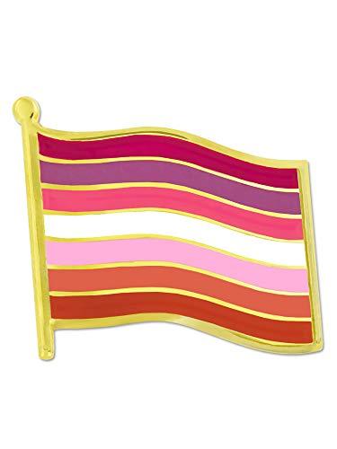 PinMart Lesbian Flag LGBTQ Gay Pride Enamel Lapel Pin Jewelry