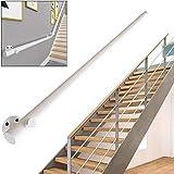 Barandilla para escaleras interiores, escaleras de madera maciza blanca, barandillas para construcción, villa, loft, seguridad, niños, ancianos, pasillo, barra de soporte, kit completo de so