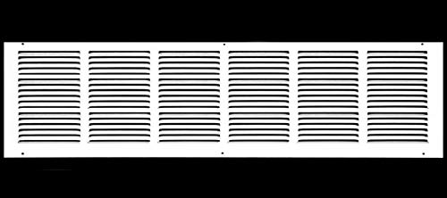 32' x 8' Return Air Grille - Sidewall and Ceiling - HVAC Vent Duct Cover Diffuser - [White] [Outer Dimensions: 33.75w X 9.75'h]