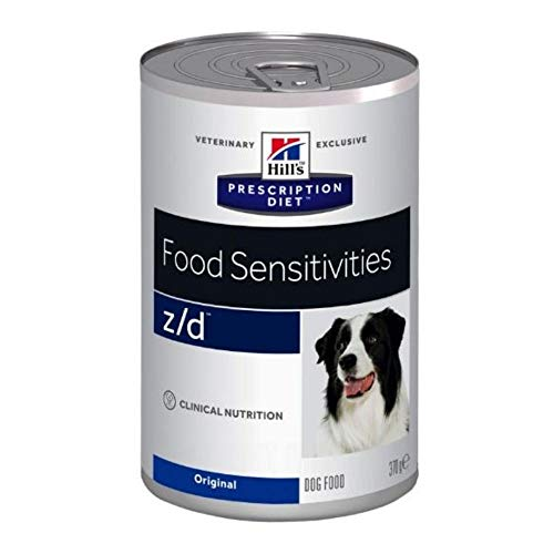 Hill's Prescription Diet Canine Z/D Food Sensitivities 12 X 370g Wet Dog Food Enriched Elimination Diet For Dogs With Food Intolerances And Allergies, Itching Or Gastro-Intestinal Inflammation