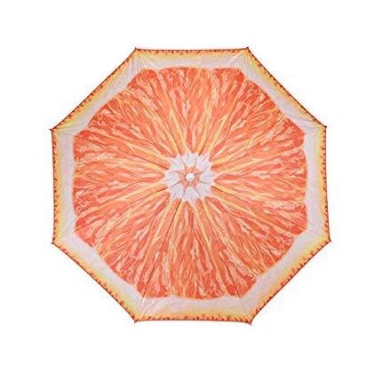 Meinposten Sonnenschirm Ø 150 cm Strandschirm knickbar Schirm Balkonschirm Gartenschirm (Orange)