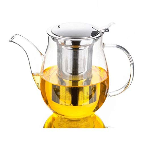 QIXIAOCYB Tetera gruesa a prueba de explosiones lavable Kung-fu Tetera de té para el hogar, filtro de té de vidrio, juego de té de 650 ml (color: A)